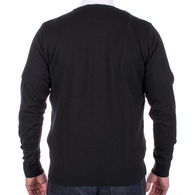 Sweter Jordi J-833 czarny pod szyje