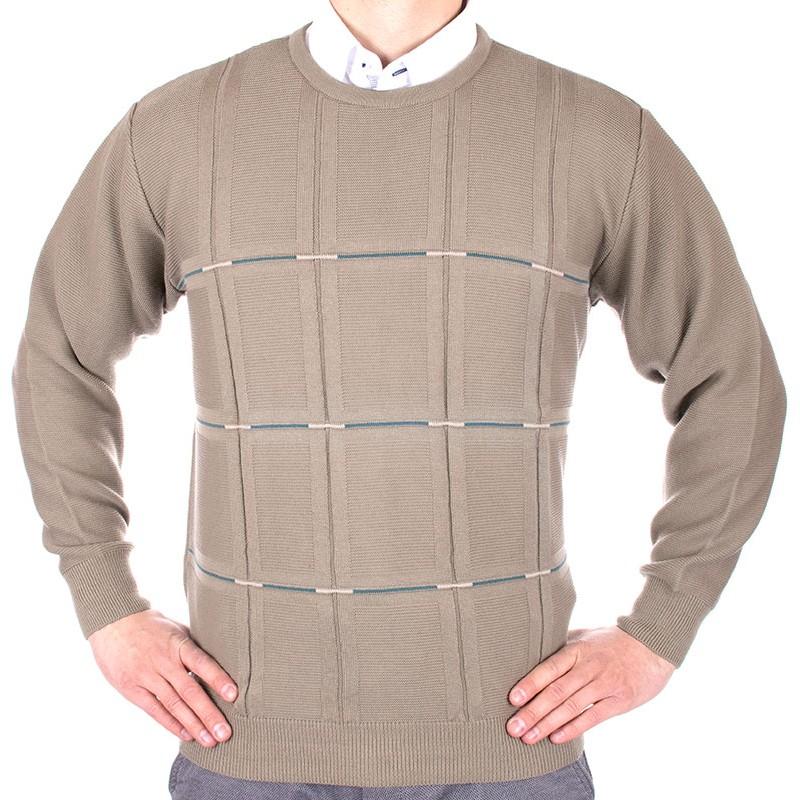 Beżowo-oliwkowy sweter Kings Elkjaer 6270