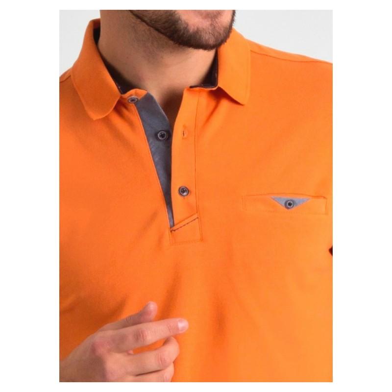 Polo męskie Repablo 1804-5 pomarańczowe