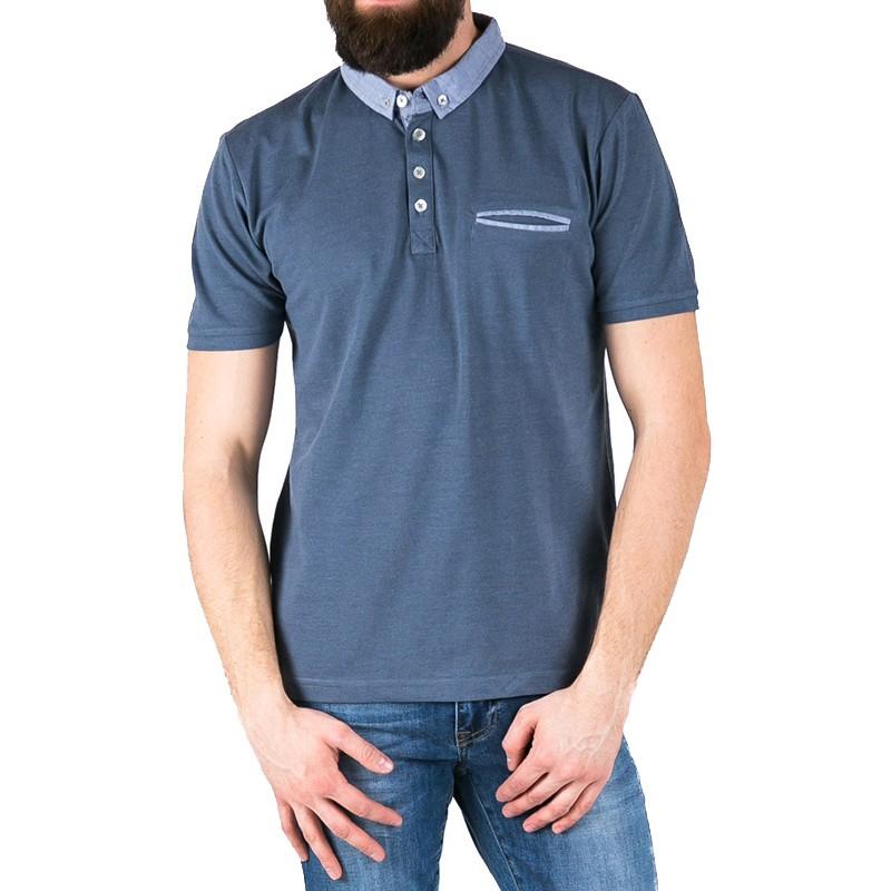 niebieskie polo Pako Jeans - easy