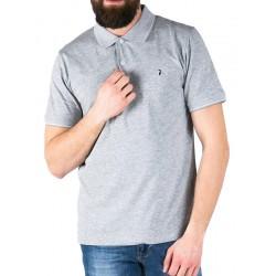 Popielate polo męskie Pako Jeans Still krótki rękaw M L XL 2XL 3XL