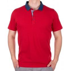 Czerwona koszulka polo Bastion z krótkim rękawem M, L, XL, 2XL