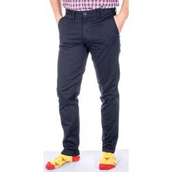 Granatowe spodnie chinos Lord R-130 bawełniane, zwężane roz. 82-116 cm