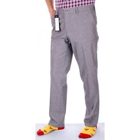 Popielate spodnie chinos Lord R-29