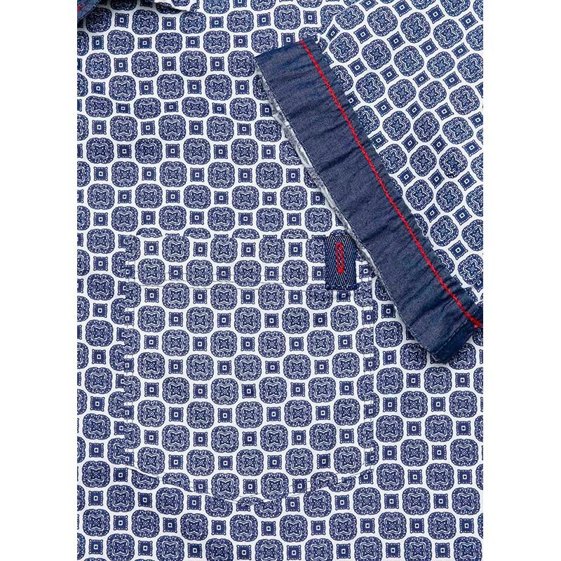 Koszula kr. rękaw Roy ks 180 5708 granatowy wzorek