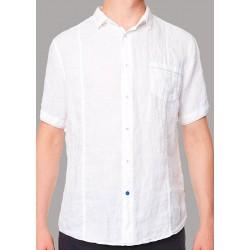 Lniana koszula Roy krótki rękaw KS265 CEBU 300 biała M L XL 2XL 3XL