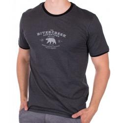 Grafitowy T-shirt z nadrukiem PakoJeans TS 1 Slate M L XL 2XL 3XL
