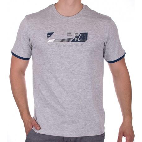Szary t-shirt z nadrukiem PakoJeans TS 3 coal