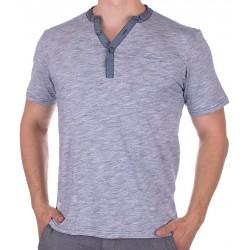 Niebieska koszulka PakoJeans TS Soul krótki rękaw guzik M L XL 2XL 3XL