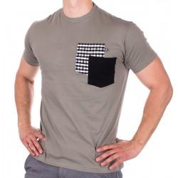Bawełniany t-shirt z kieszeniami Kings 750-101KK khaki r. M L XL 2XL