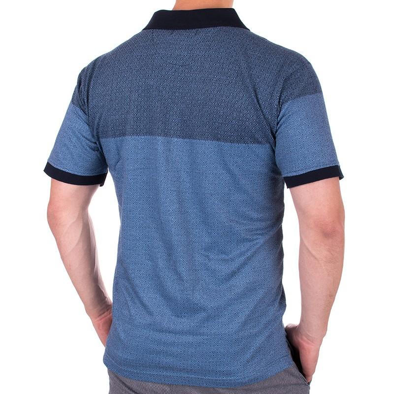 Koszulka polo KIngs Elkjaer 31T-900 niebieska z kieszonką