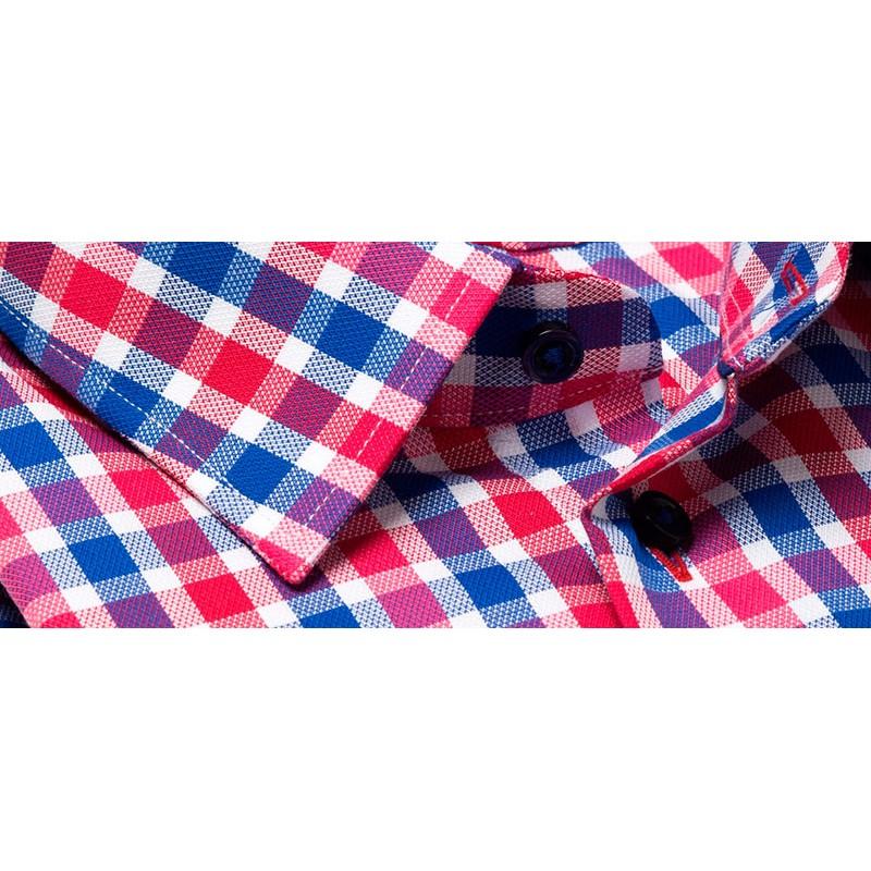 Koszula dł. rękaw Comen kratka czerwono-niebieska