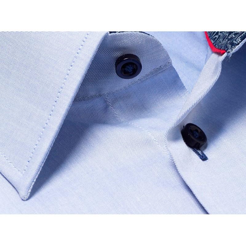 Niebieska koszula Comen z dł. rękaw