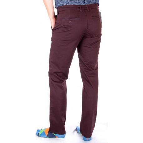 Bordowe spodnie Lord R-72 zwężane
