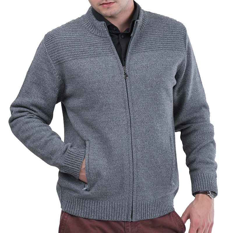 Szary rozpinany sweter Lasota Komandor