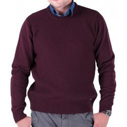 Śliwkowo-bordowy sweter Lasota Filip pod szyje M L XL 2XL 3XL