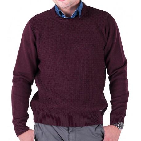 Sweter Lasota Filip pod szyje śliwka