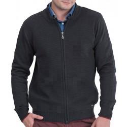 Grafitowy sweter Lasota Hermes rozpinany niska stójka M L XL 2XL 3XL