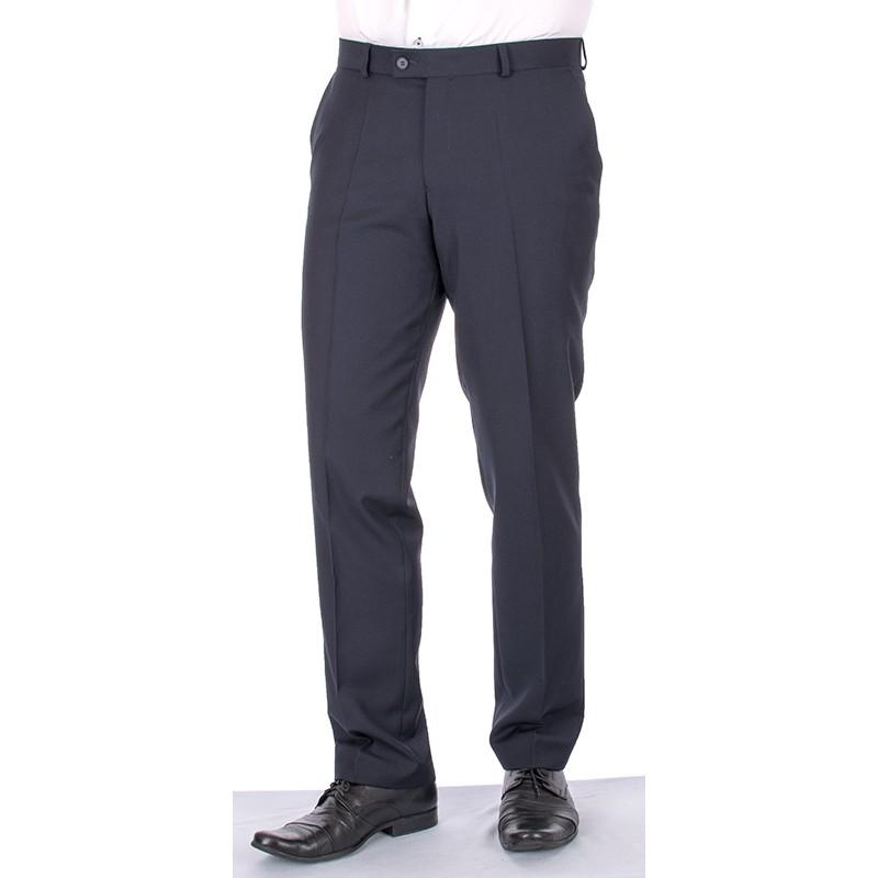 Granatowe spodnie w kant Lord Sp.051