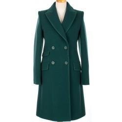 płaszcz Dziekański Emilia 162 zielony rozmiar 36 38 40 42 44 46 48 50