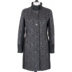 płaszcz gufrowany Biba Donata czarny rozmiar 40 44 46