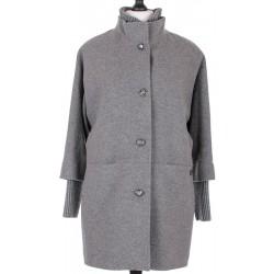 płaszcz zimowy damski ocieplony Biba Mela szary rozmiar 42 44 46