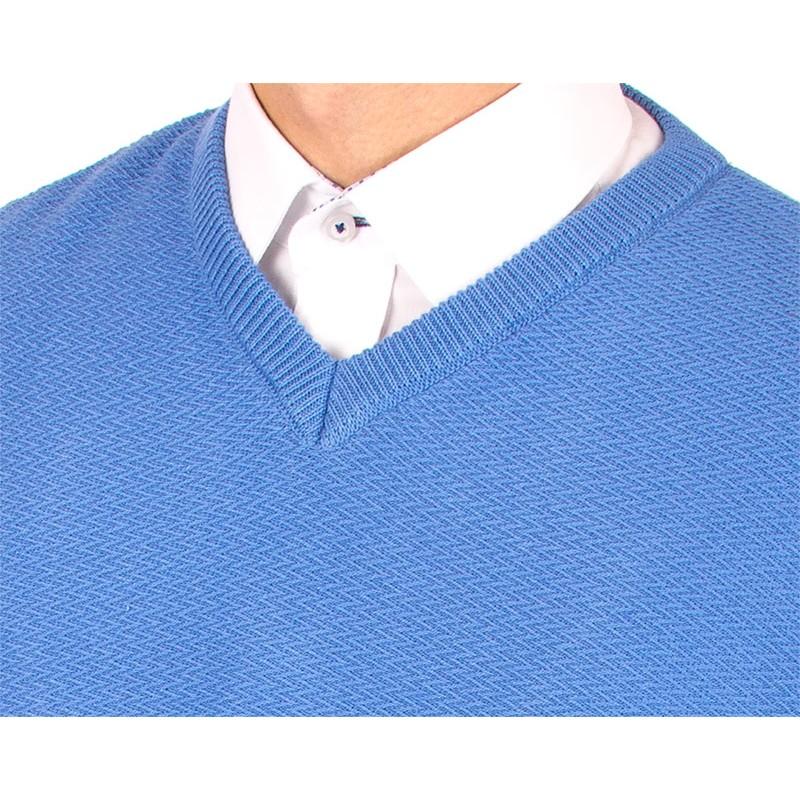 Błękitny sweter Lasota Ksawery w szpic
