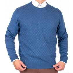 Jeansowy sweter u-neck Lanieri 10-102-24 kolor 590 roz. M L XL 2XL 3XL