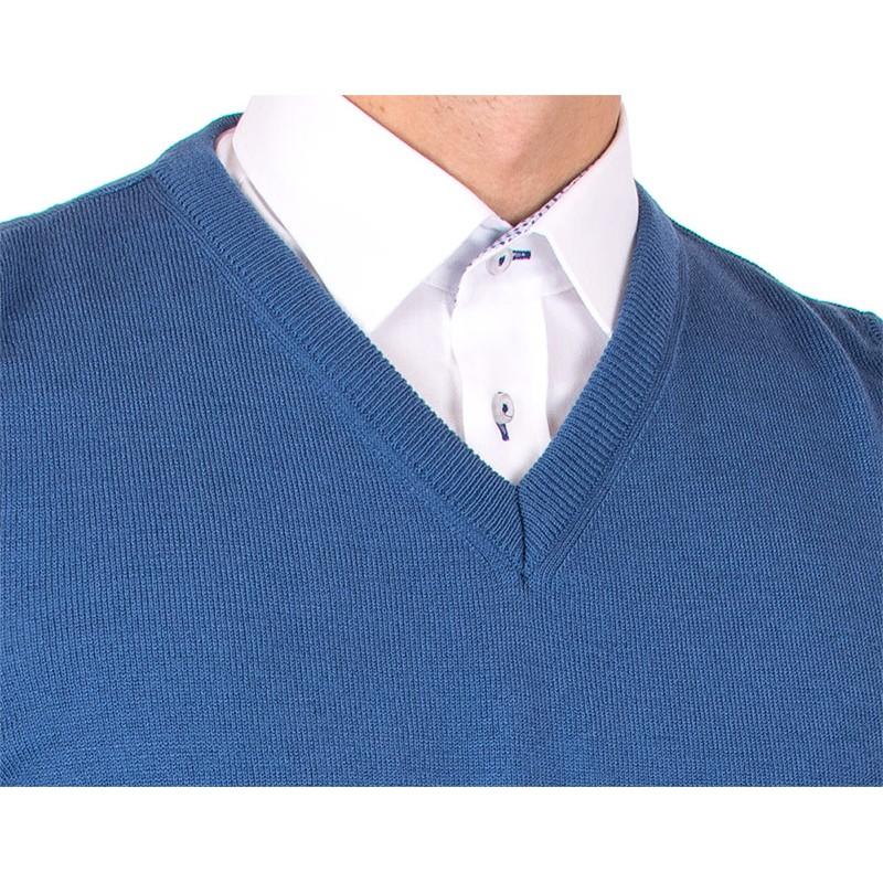 Niebieski bezrękawnik, kamizelka Lidos 1002