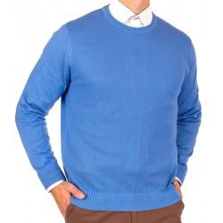 Błękitny sweter Lanieri u-neck 10-102-25 kol 040 r. M L XL 2XL 3XL