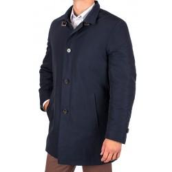 Zimowy płaszcz Tris Line K18-3 granatowy 50 52 54 56 58 60 62