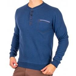 Niebieski sweter bawełniany Bastion KP2