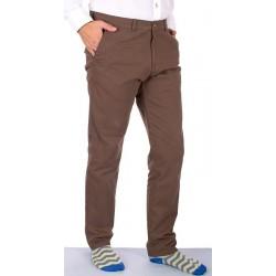 Brązowe spodnie Lord R-138 bawełniane chinos roz. 82-112 cm