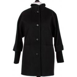płaszcz wełniany damski Biba Mela czarny rozmiar 40 44