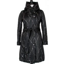 płaszcz ocieplany Dziekański Tanita czarny rozmiar 38 40 42 44 46
