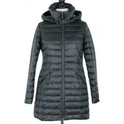 płaszcz Modena Styl Żaklina ciemno zielony rozmiar 38 40 42 44 46 48