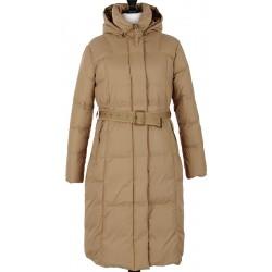 płaszcz puch damski Modena Styl Lena beżowy rozmiar 38 40 42 44 46 48