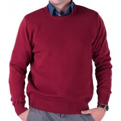 Sweter u-neck Lasota Hermes pod szyję malaga bordo rozmiar M L XL 2XL