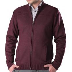 Śliwkowy sweter Lasota Komandor rozpinany bordowy M L XL 2XL 3XL 4XL