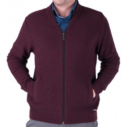Rozpinany sweter Lasota Wiktor śliwkowo-bordowy roz. M L XL 2XL 3XL