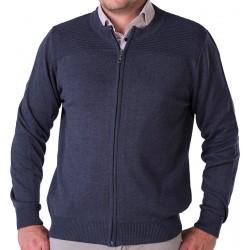 Sweter rozpinany Lasota Gaspar navy granatowy