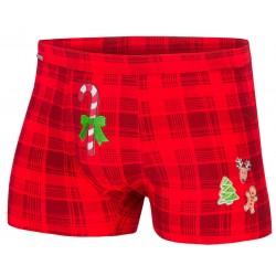 Czerwone, świąteczne bokserki Cornette 017/42 Candy Cane