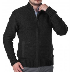 Sweter Lasota Ernest rozpinany grafitowy z kieszeniami M L XL 2XL