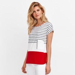 bluzka bez rękawów Feria FD65-2-73 biała rozmiar 38 40 42 44 46 48