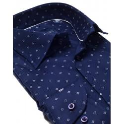 Granatowa koszula Comen slim 100% bawełna 39 40 41 42 43 44 45 46 50