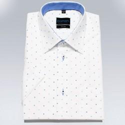 Biała koszula krótki rękaw Comen ze wzorem slim 39 40 41 42 43 44 45