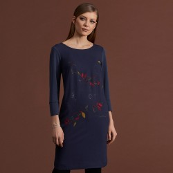 sukienka w kwiaty Feria FC231-5-30 grafitowa rozmiar 38 40 42