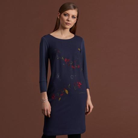 48015d60c0 sukienka w kwiaty Feria FC231-5-30 grafitowa rozmiar 38 40 42