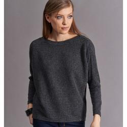 sweter damski Feria FC08-5-78 prążki grafit rozmiar 38