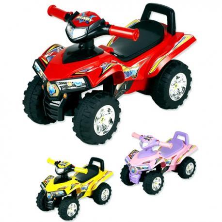 Pojazd Quad Baby Mix czerwony niebieski żółty